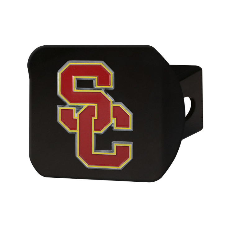 University of Southern California Hitch Cover - Color on Black