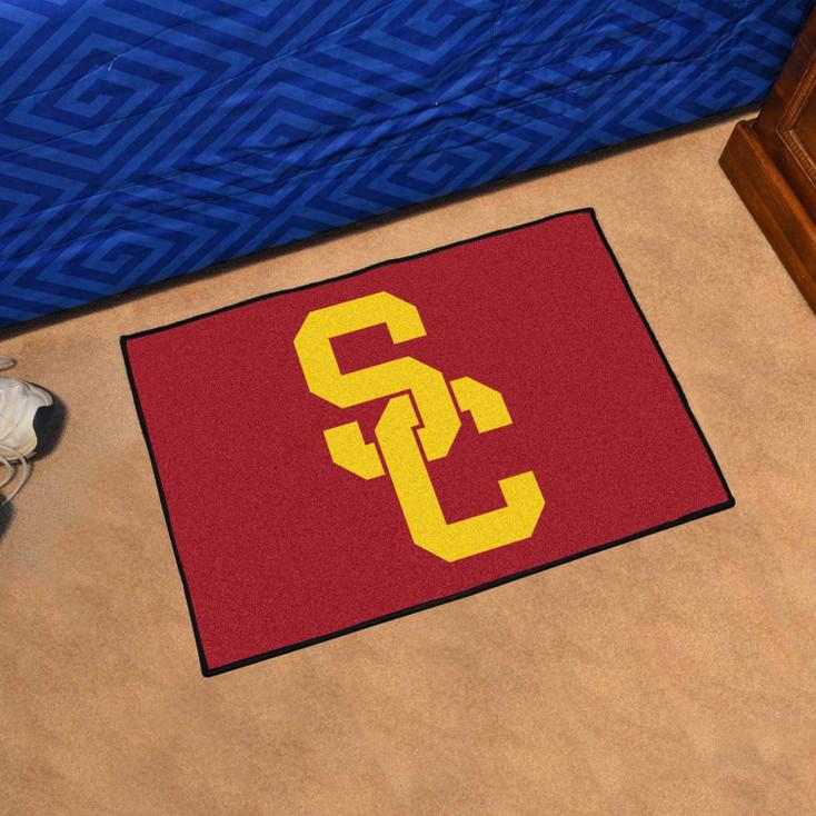 "19"" x 30"" University of Southern California Red Rectangle Starter Mat"