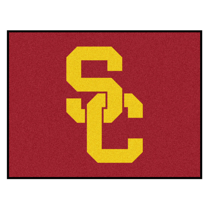 """33.75"""" x 42.5"""" University of Southern California All Star Red Rectangle Mat"""