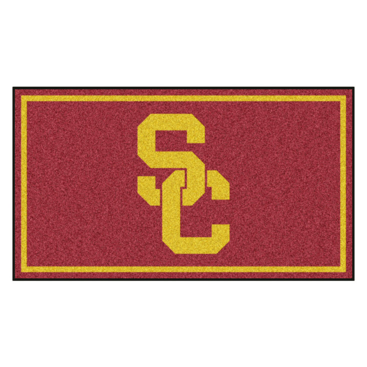 3' x 5' University of Southern California Red Rectangle Rug