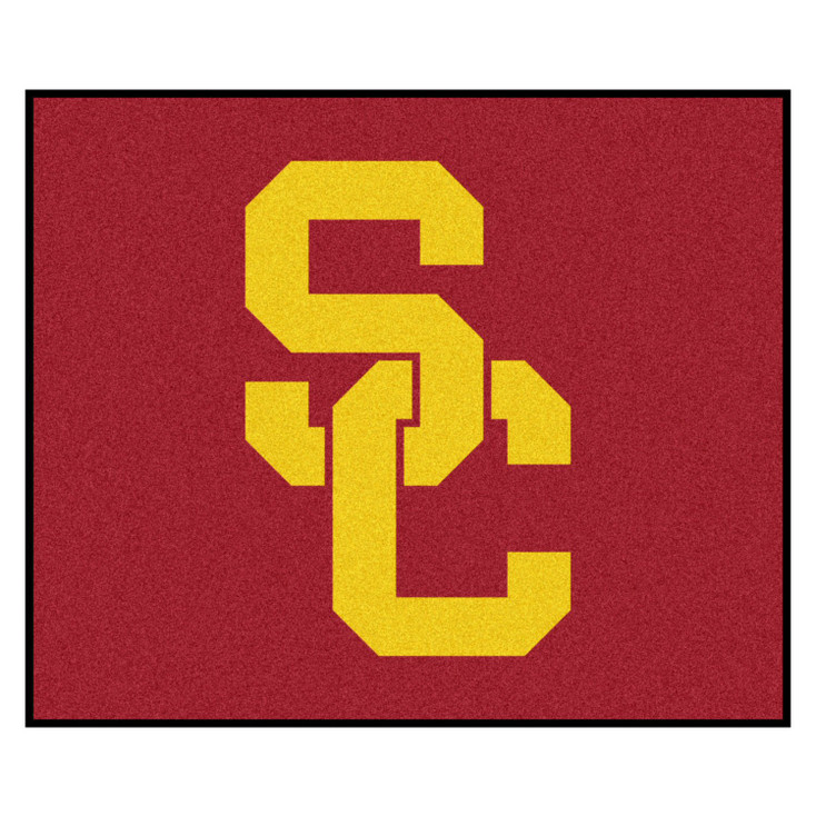 """59.5"""" x 71"""" University of Southern California Red Tailgater Mat"""