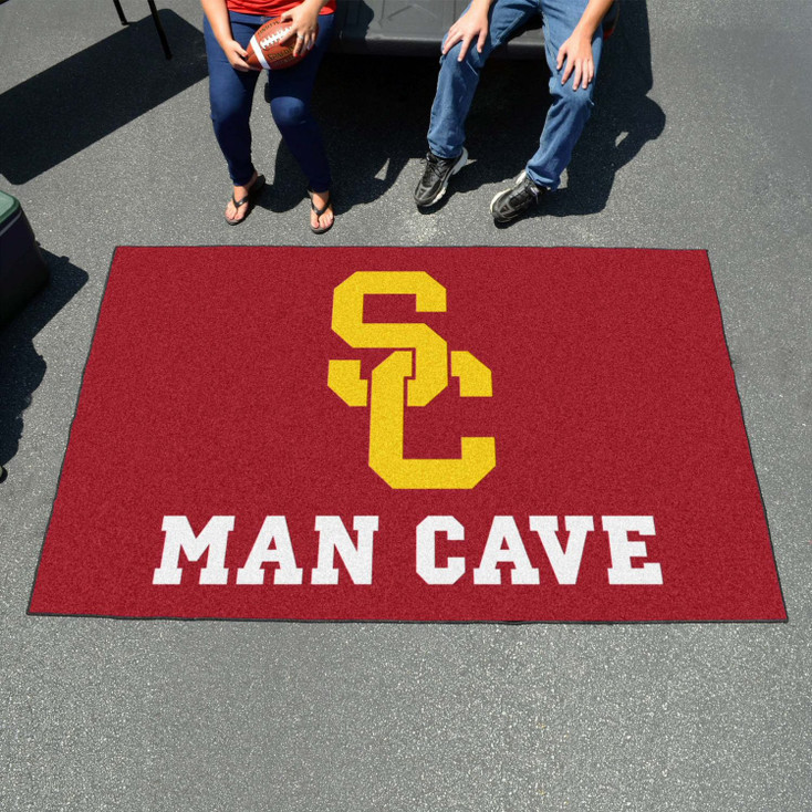 """59.5"""" x 94.5"""" University of Southern California Man Cave Red Rectangle Ulti Mat"""
