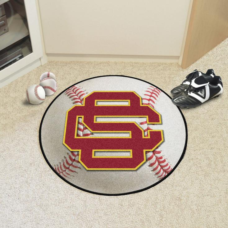 """27"""" University of Southern California Baseball Style Round Mat"""
