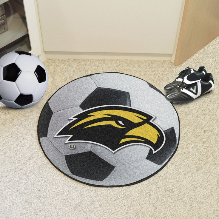"""27"""" University of Southern Mississippi Soccer Ball Round Mat"""
