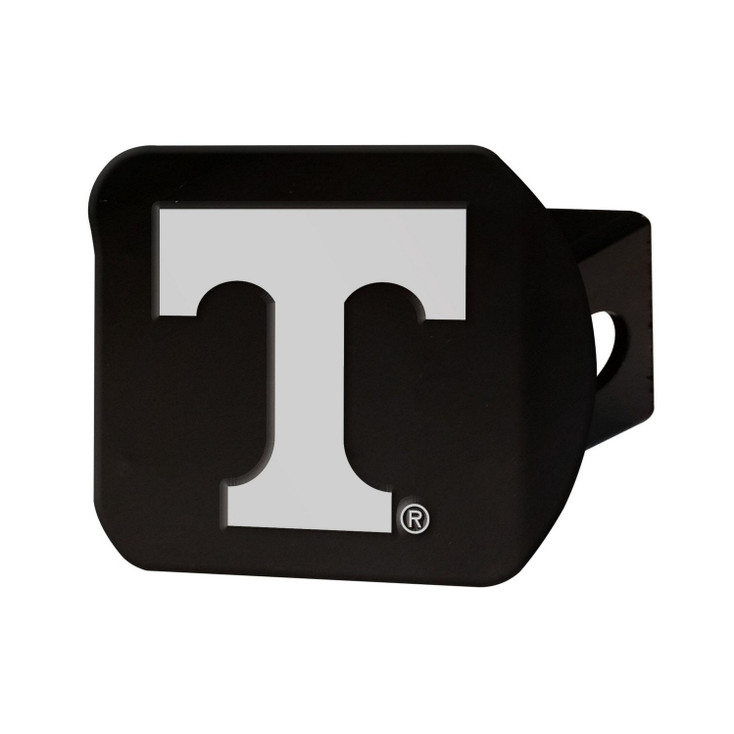 University of Tennessee Hitch Cover - Chrome on Black