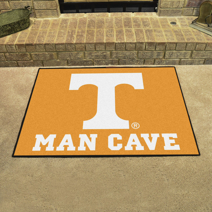 "33.75"" x 42.5"" University of Tennessee Man Cave All-Star Orange Rectangle Mat"