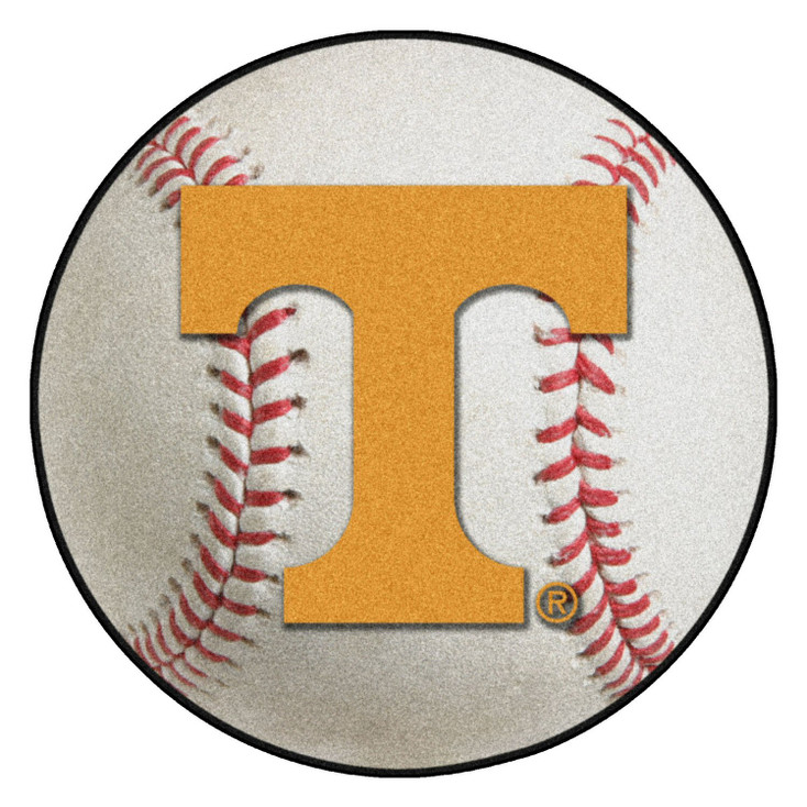"27"" University of Tennessee Baseball Style Round Mat"