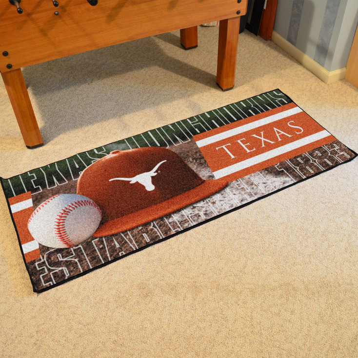 """30"""" x 72"""" Texas Baseball Style Rectangle Runner Mat"""