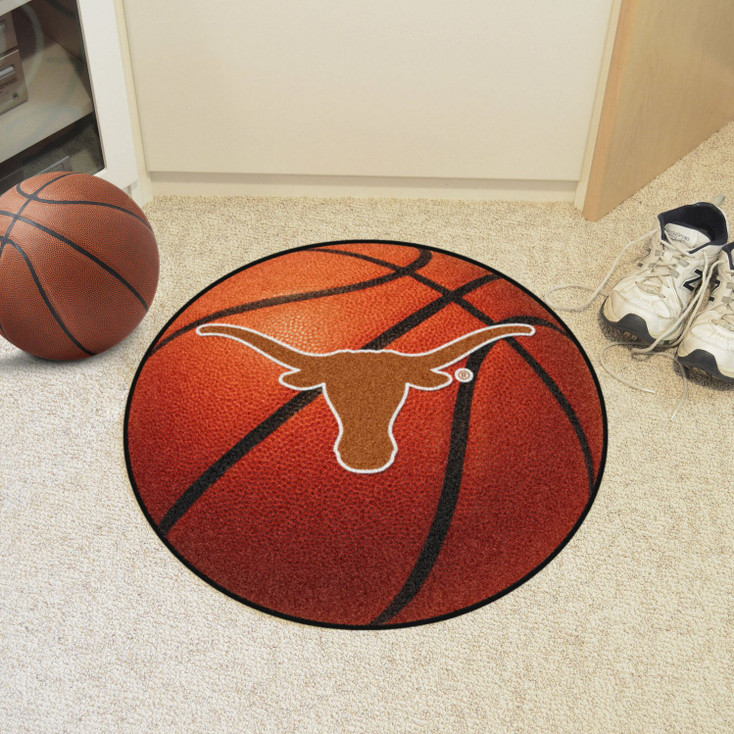 "27"" University of Texas Basketball Style Round Mat"