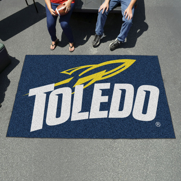 "59.5"" x 94.5"" University of Toledo Navy Blue Rectangle Ulti Mat"