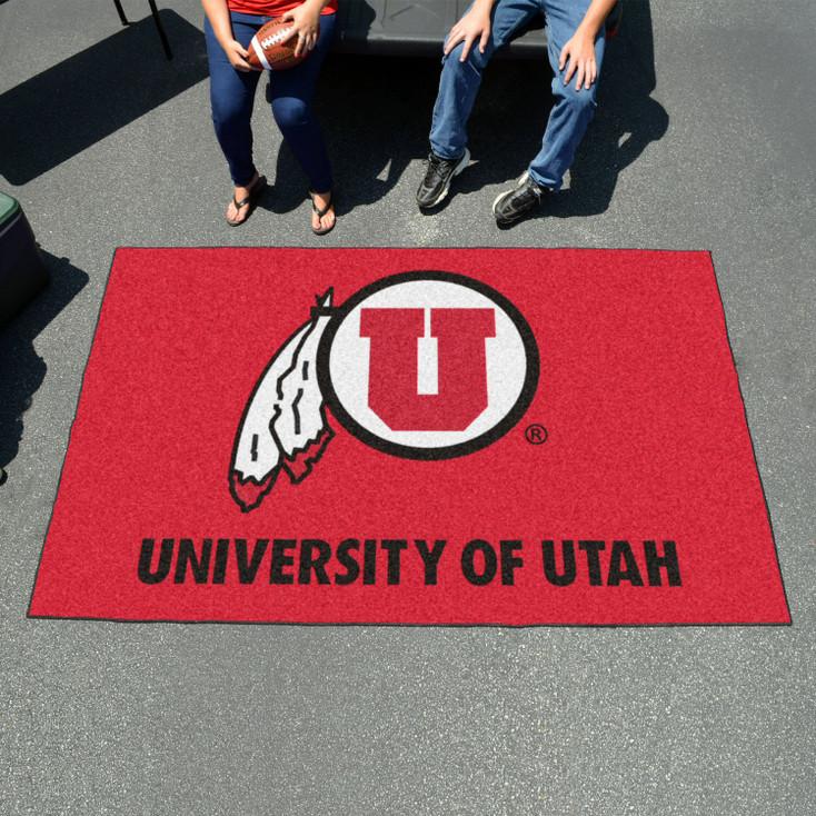 "59.5"" x 94.5"" University of Utah Red Rectangle Ulti Mat"