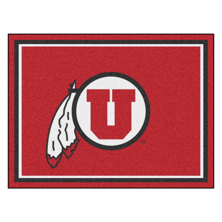 8' x 10' University of Utah Red Rectangle Rug