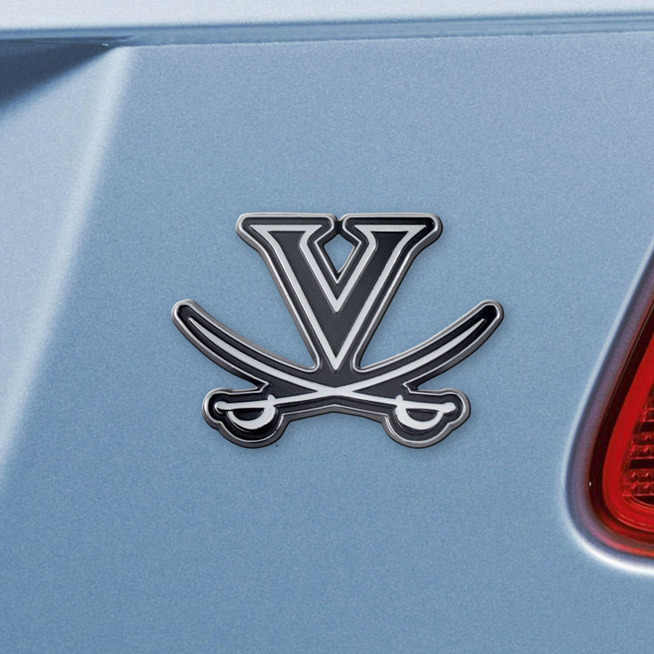 University of Virginia Chrome Emblem, Set of 2
