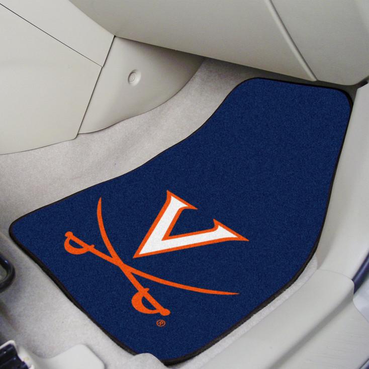 University of Virginia Carpet Car Mat, Set of 2