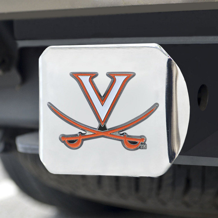 University of Virginia Color Hitch Cover - Chrome