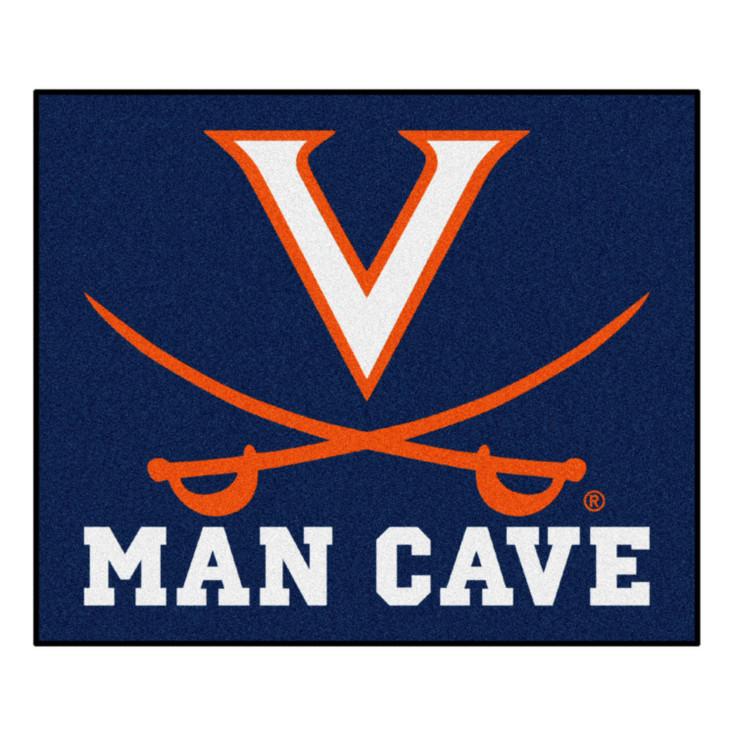 "59.5"" x 71"" University of Virginia Man Cave Tailgater Navy Blue Rectangle Mat"
