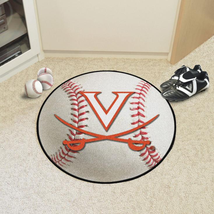 "27"" University of Virginia Baseball Style Round Mat"