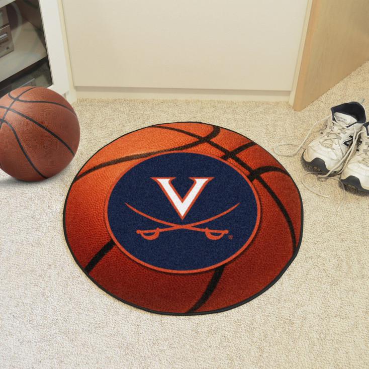 "27"" University of Virginia Basketball Style Round Mat"