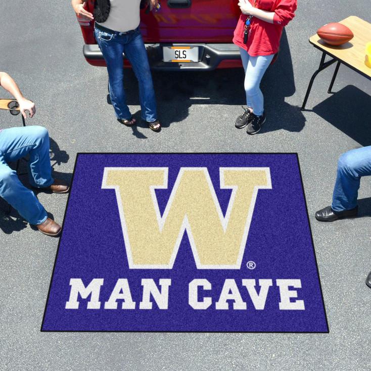 "59.5"" x 71"" University of Washington Man Cave Tailgater Purple Rectangle Mat"