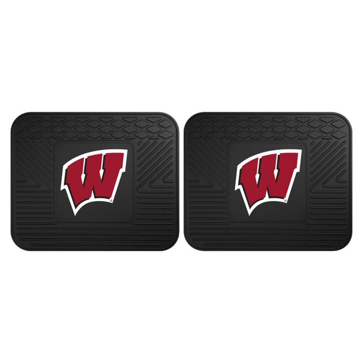 University of Wisconsin Heavy Duty Vinyl Car Utility Mats, Set of 2