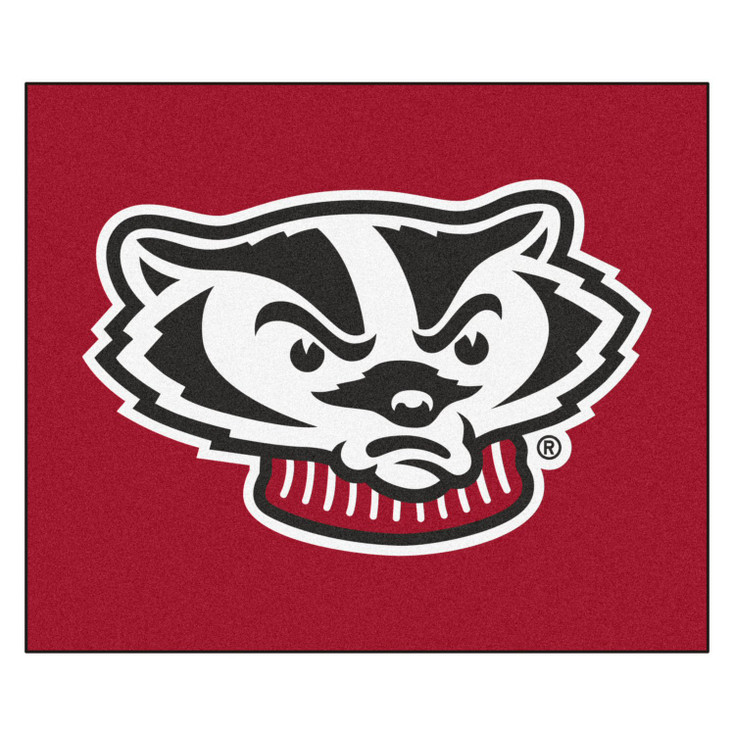 """59.5"""" x 71"""" University of Wisconsin Badgers Red Tailgater Mat"""