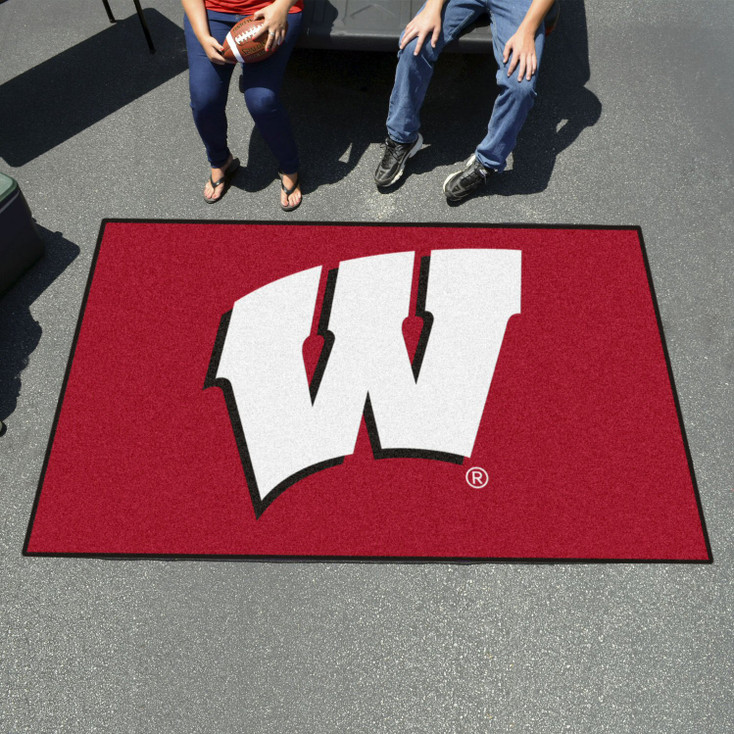 """59.5"""" x 94.5"""" University of Wisconsin Red Rectangle Ulti Mat"""