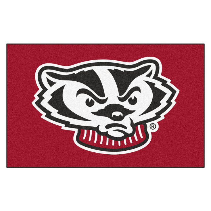 """59.5"""" x 94.5"""" University of Wisconsin Badgers Red Rectangle Ulti Mat"""