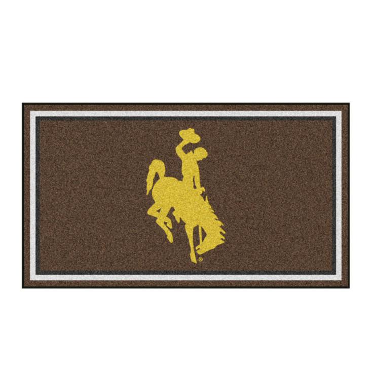 3' x 5' University of Wyoming Brown Rectangle Rug