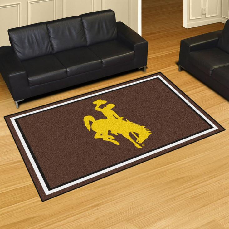 5' x 8' University of Wyoming Brown Rectangle Rug