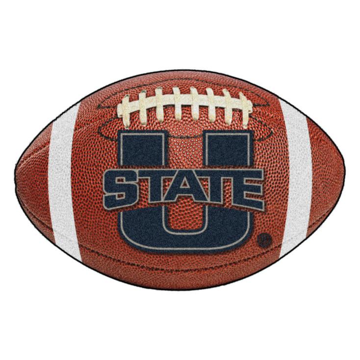 "20.5"" x 32.5"" Utah State University Football Shape Mat"