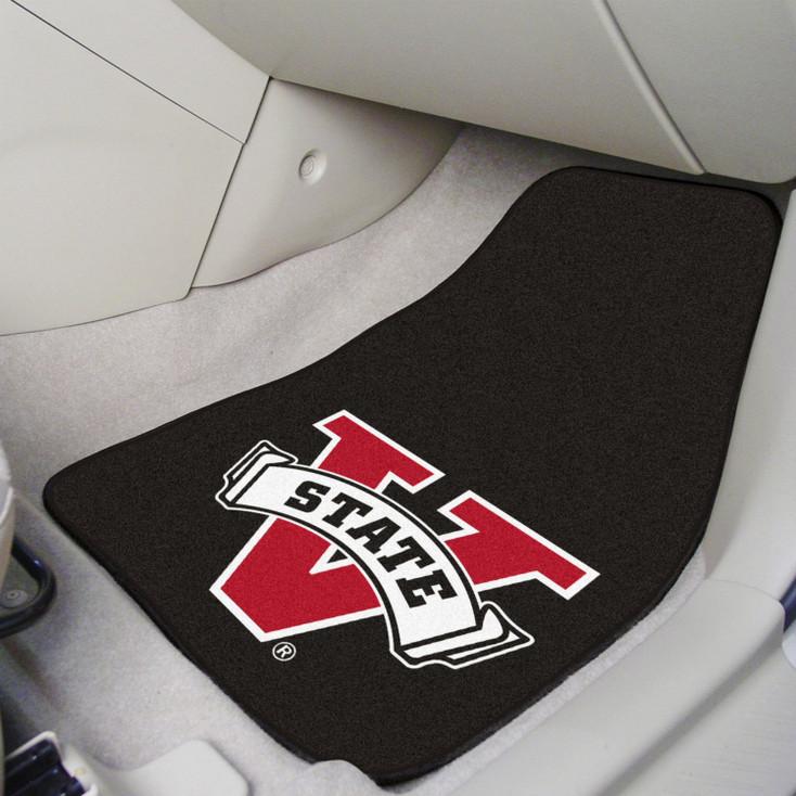 Valdosta State University Black Carpet Car Mat, Set of 2