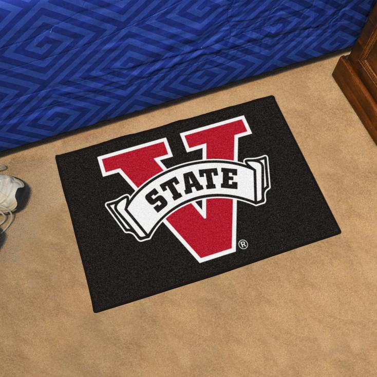 """19"""" x 30"""" Valdosta State University Black Rectangle Starter Mat"""