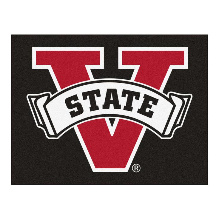 """33.75"""" x 42.5"""" Valdosta State University All Star Black Rectangle Mat"""
