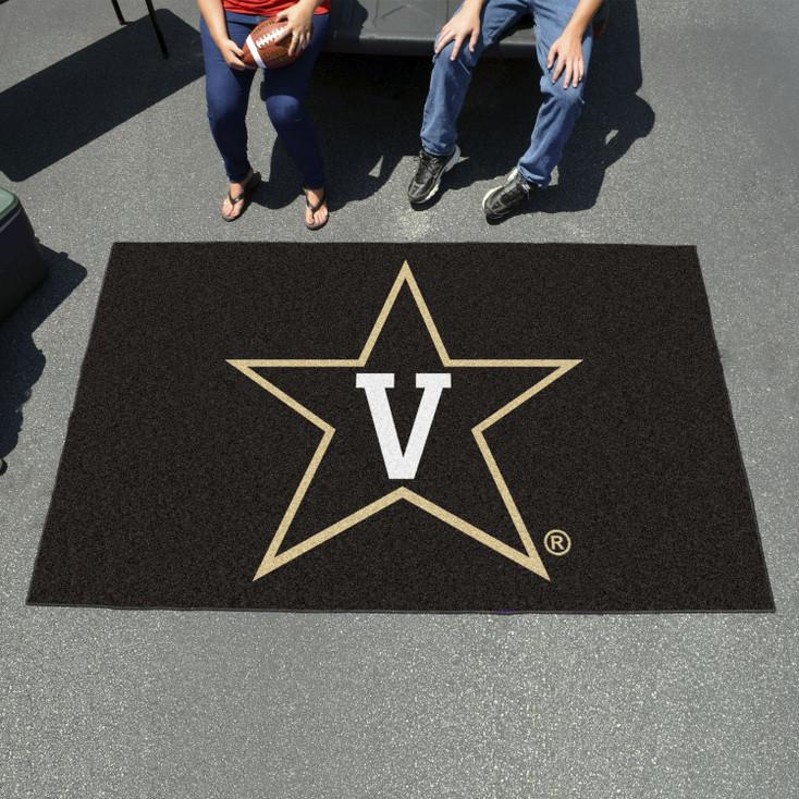 "59.5"" x 94.5"" Vanderbilt University Black Rectangle Ulti Mat"