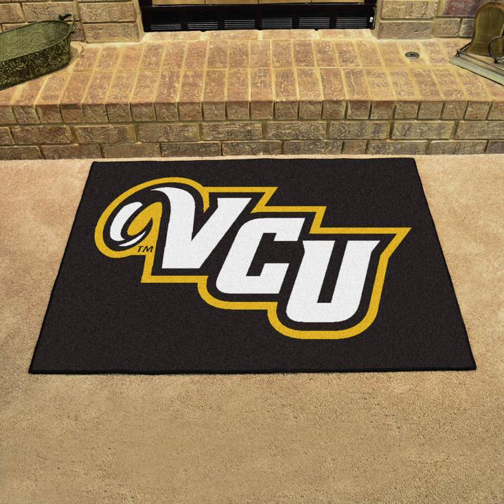 "33.75"" x 42.5"" Virginia Commonwealth University All Star Black Rectangle Mat"
