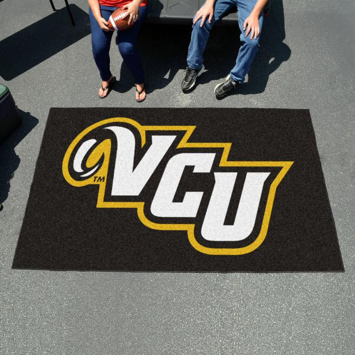 "59.5"" x 94.5"" Virginia Commonwealth University Black Rectangle Ulti Mat"