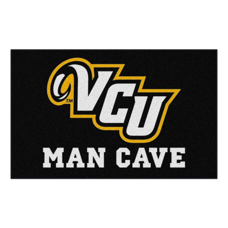 "59.5"" x 94.5"" Virginia Commonwealth University Man Cave Black Rectangle Ulti Mat"