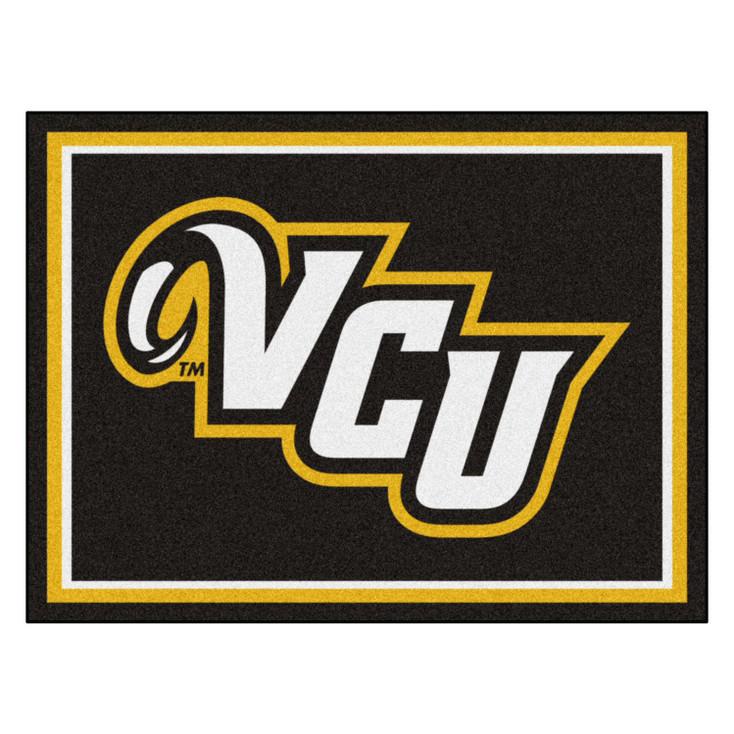 8' x 10' Virginia Commonwealth University Black Rectangle Rug