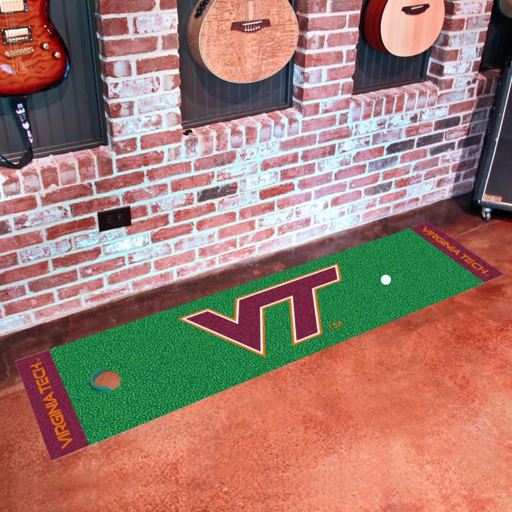 """18"""" x 72"""" Virginia Tech Putting Green Runner Mat"""