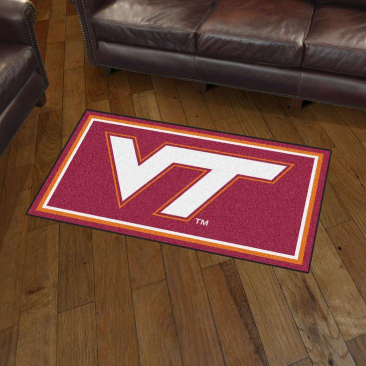 3' x 5' Virginia Tech Maroon Rectangle Rug