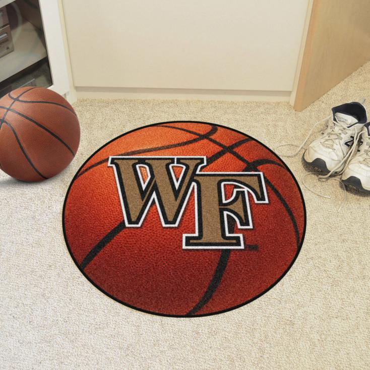 "27"" Wake Forest University Basketball Style Round Mat"