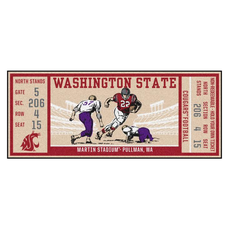 "30"" x 72"" Washington State University Ticket Rectangle Runner Mat"