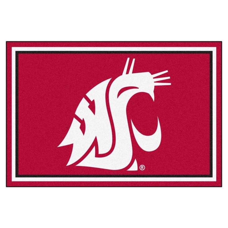 5' x 8' Washington State University Red Rectangle Rug