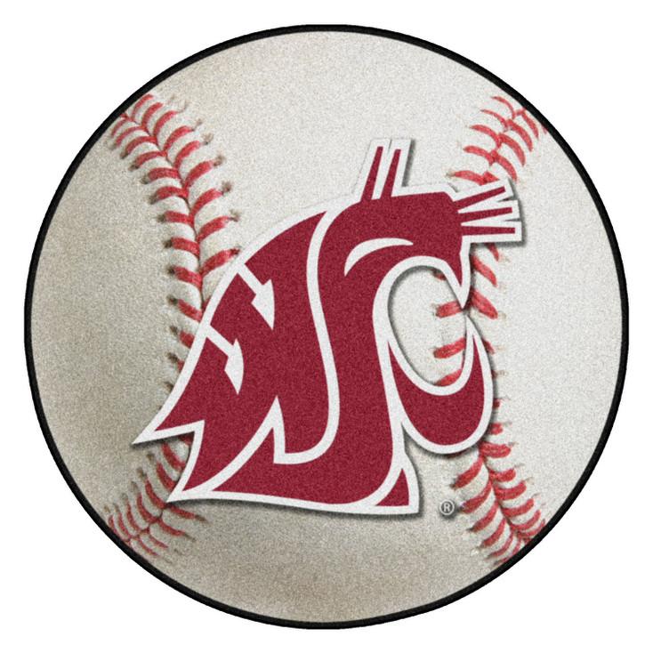"27"" Washington State University Baseball Style Round Mat"