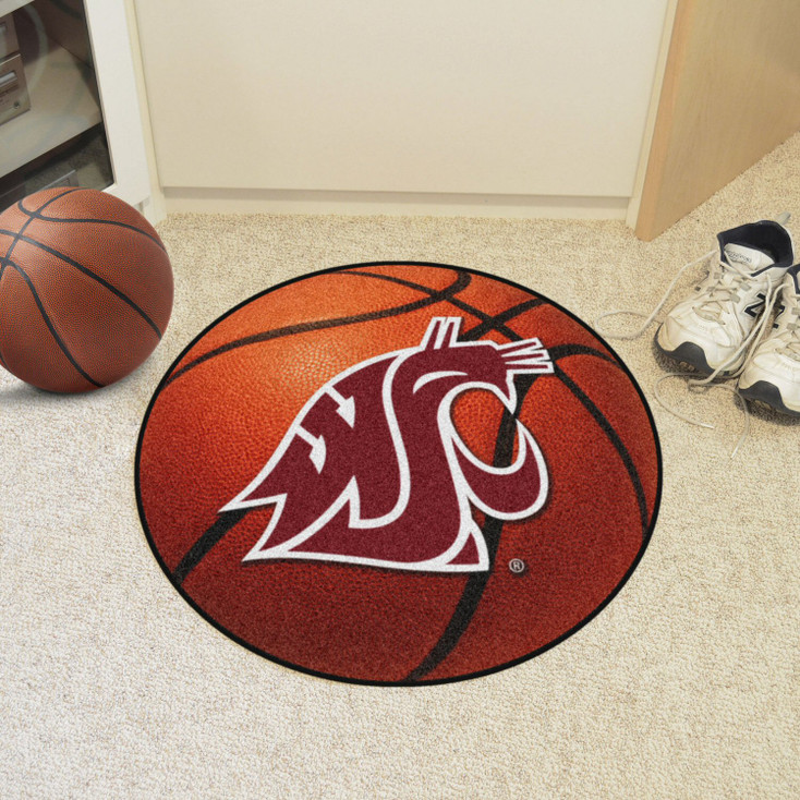 "27"" Washington State University Basketball Style Round Mat"
