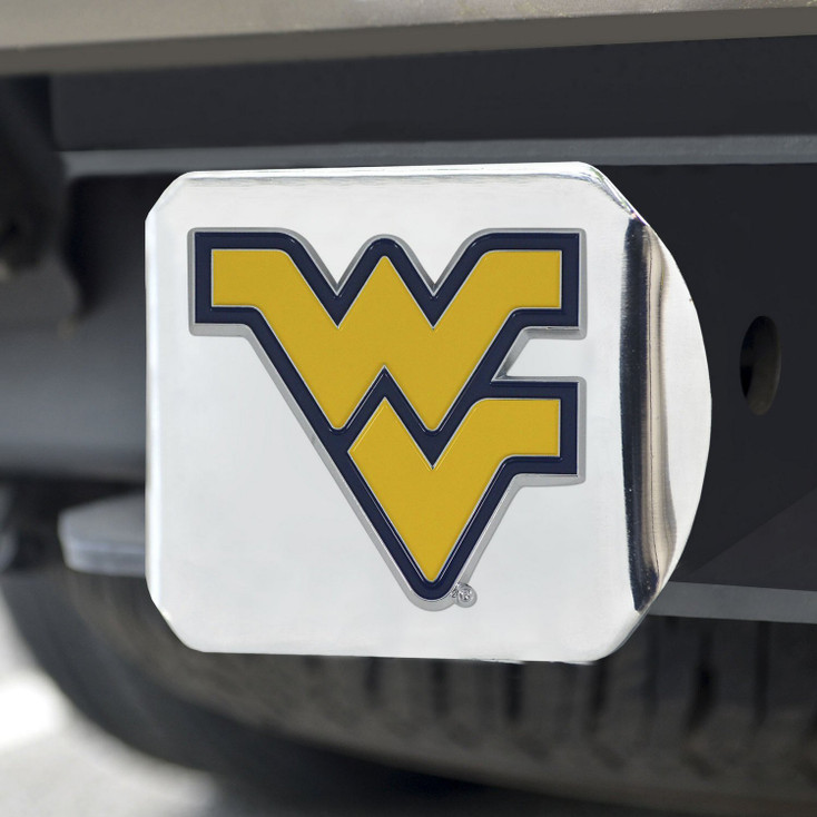West Virginia University Color Hitch Cover - Chrome