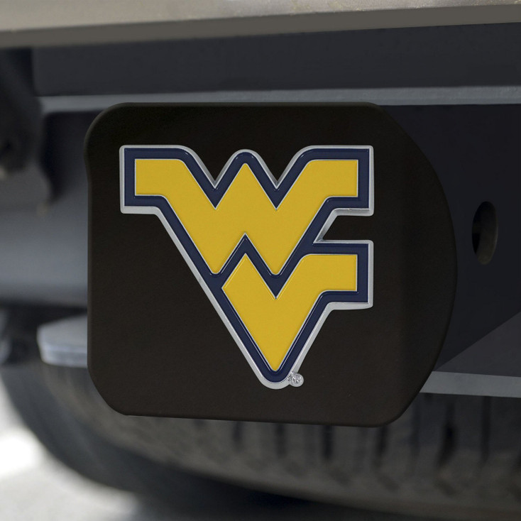 West Virginia University Hitch Cover - Color on Black
