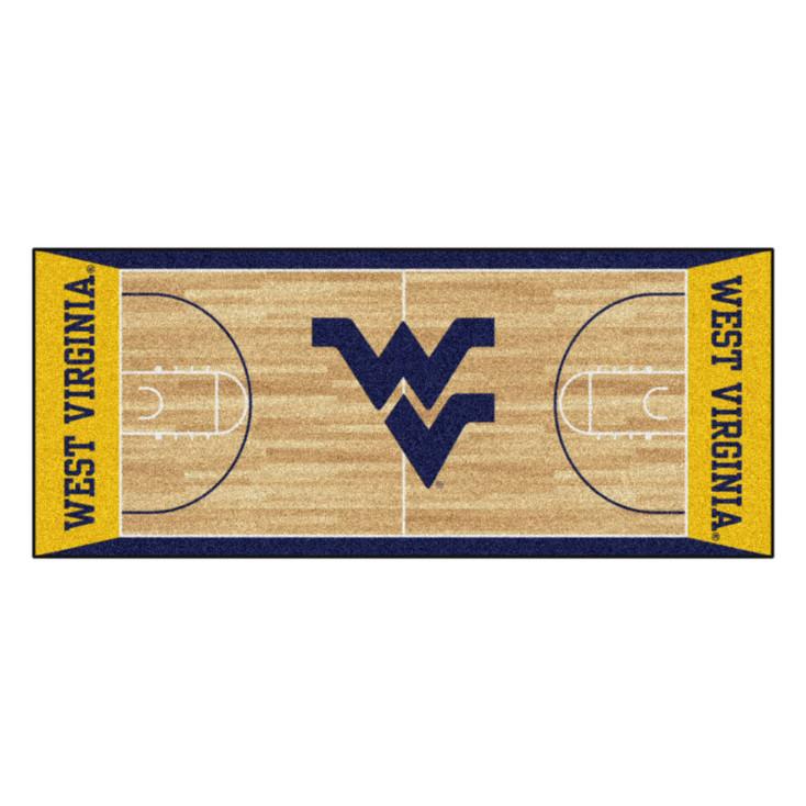 """30"""" x 72"""" West Virginia University NCAA Basketball Rectangle Runner Mat"""