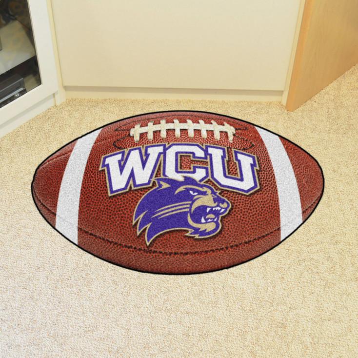 "20.5"" x 32.5"" Western Carolina University Football Shape Mat"