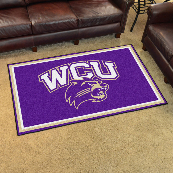 4' x 6' Western Carolina University Purple Rectangle Rug